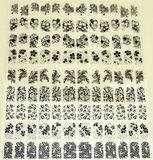 108 zwarte 3D stickers_