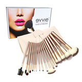 Set van 18 make-up kwasten beige goud_