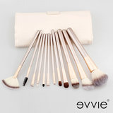 Set van 12 make-up kwasten beige goud_