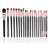 Set van 20 make-up kwasten voor oogschaduw, lippenstift, concealer en foundation_