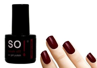 So! Soak off gel polish midnight tango