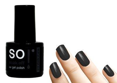 So! Soak off gel polish one shade of grey