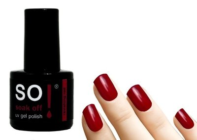 So! Soak off gel polish ravishing red