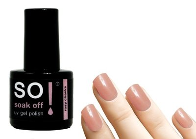 So! Soak off gel polish rosy cheeks