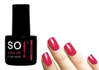 So! Soak off gel polish think pink