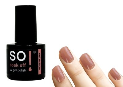 So! Soak off gel polish touch of pink