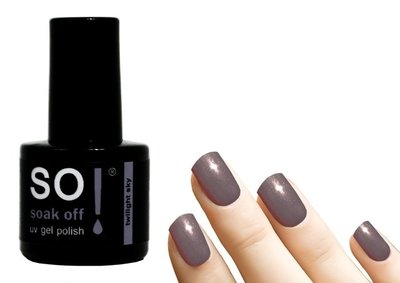 So! Soak off gel polish twilight sky