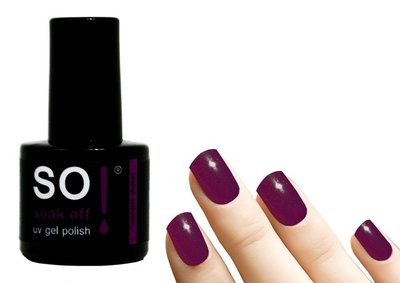 So! Soak off gel polish violent violet