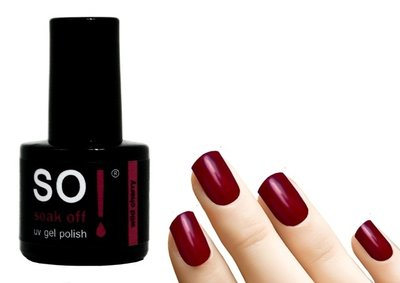 So! Soak off gel polish wild cherry