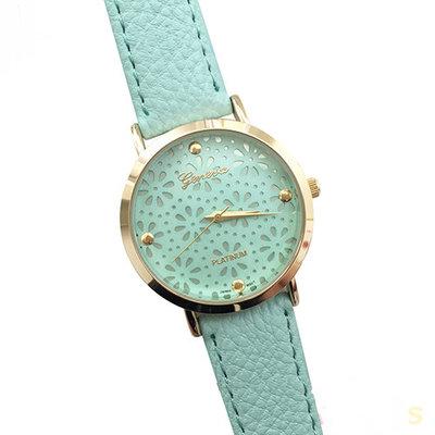 Geneva horloge Blue Flower