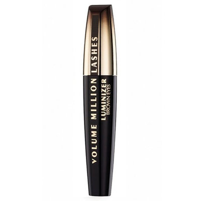 L'oréal Volume Million Lashes luminizer Brown Eyes mascara zwart