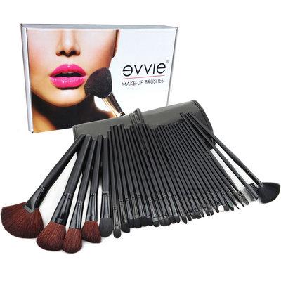 Set van 32 make-up kwasten zwart