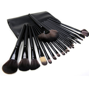 Set van 24 make-up kwasten zwart